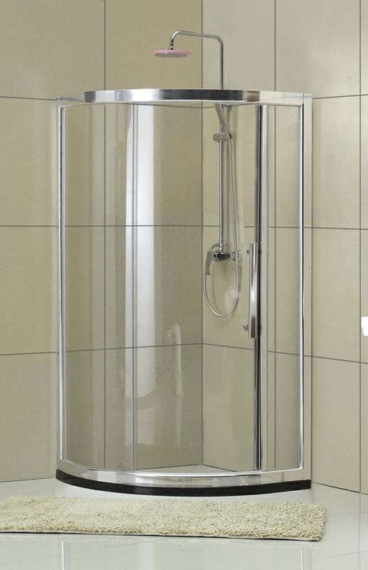 CCC Certification D Shaped Shower Cabin Frosted Shower Enclosure Matte Sliver