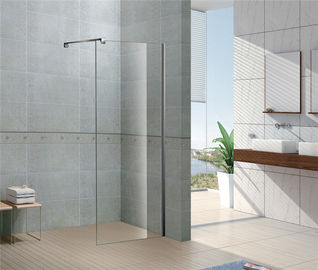 Diinstal Dengan Mudah Walk In Glass Shower Lampiran 8 MM Kaca Tempered dengan Profil Chromed