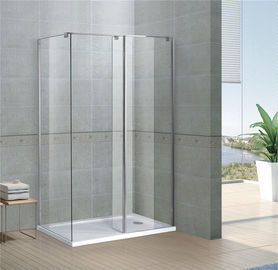 Rectangle Walk In Shower Enclosures 6/8 MM Clear Tempered Fixed Glass Sertifikasi CE / SGCC