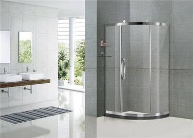 Cermin Warna Geser Offset Shower Enclosure Clear / Printed Tempered Glass Sertifikasi CE