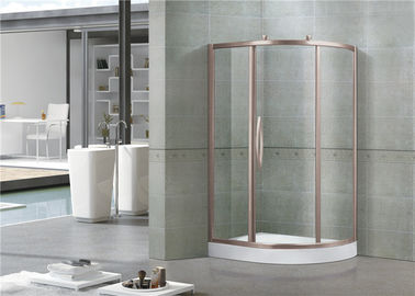 Offset Kuadran 6 MM Kaca Shower Layar Rose Gold Aluminium Alloyeses Sliding Door