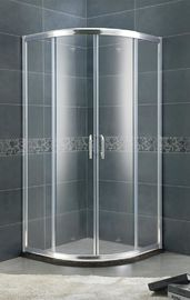 Aluminium Alloy Setor Shower Stand 6 MM Clear / Forsted Tempered Glass Dengan Profil Perak Cerah