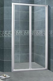 Perak Aluminium Alloy Glass Shower Lampiran 5MM Clear Tempered CSI Certification